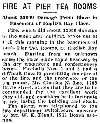 Vancouver Province, September 23, 1916, page 26, column 6.