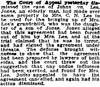Vancouver Province, May 15, 1920, page 28, column 4.