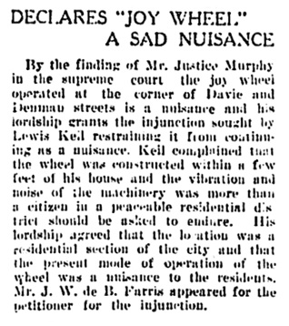 Vancouver Daily World, February 15, 1910, page 1, column 2.