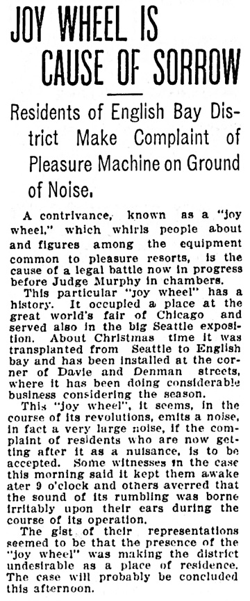 Vancouver Province, February 11, 1910, page 7, column 5.