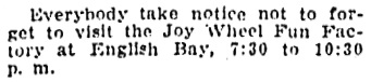 Vancouver Province, August 29, 1910, page 24, column 4.