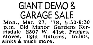 Vancouver Sun, March 25, 1978, page 57, column 8.