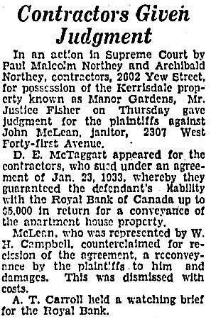 Vancouver Sun, March 23, 1934, page 23, column 2.