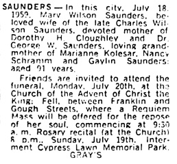 San Francisco Examiner, July 19, 1959, page 45, column 6.