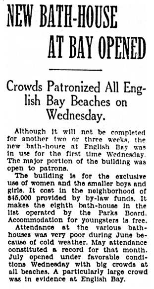 Vancouver Province, July 2, 1931, page 16, column 4.