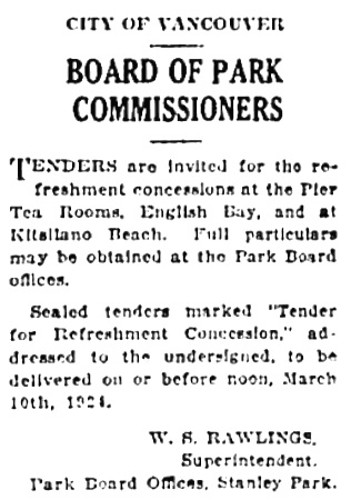 Vancouver Province, March 1, 1924, page 21, column 8.