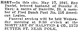 San Francisco Examiner, May 20, 1942, page 13, column 6.