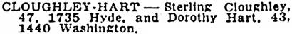 San Francisco Examiner (San Francisco, California), November 27, 1945, page 13, column 4.