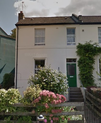12 Greenside Road, Shepherd's Bush, London, England; Google Streets, searched April 4, 2019; image dated August 2014.