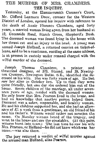 The Guardian (London, England), January 24, 1896, page 7, column 3 [selected portions of article].