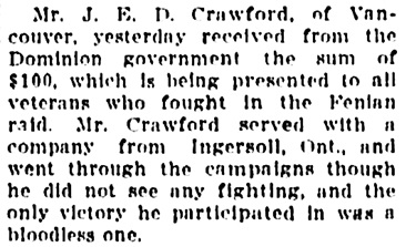 Vancouver Sun, September 17, 1913, page 7, column 3.