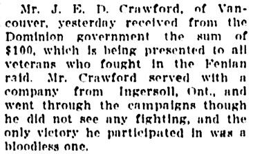 Vancouver Sun, September 17, 1913, page 7, column 3.