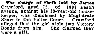 Vancouver Province, August 28, 1919, page 22.