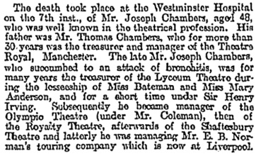 Manchester Weekly Times and Examiner, April 15, 1898, page 8, column 4.