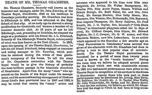 The Guardian (London, England), April 4, 1883, page 5, column 5.