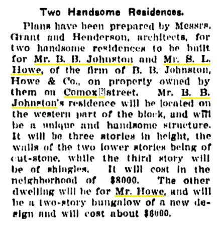 2075 Nelson Street and 2045 Nelson Street - Vancouver Province - May 12 1904 - page 1 - column 2