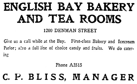 English Bay Bakery and Tea Rooms - Vancouver Province - June 4 1908 - page 15 - columns 6-7