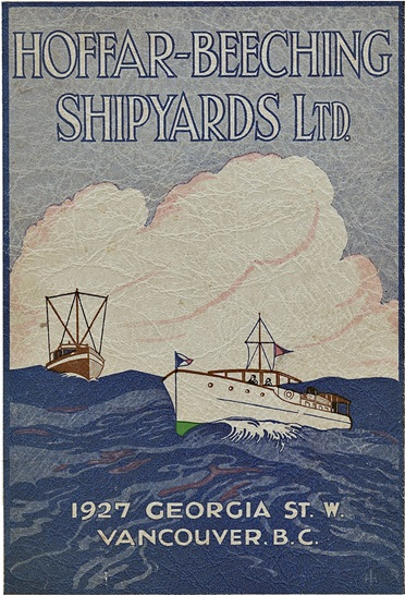 Hoffar-Beeching Shipyards Limited - 1927 Georgia St W Vancouver BC - catalogue cover - small - about 1927 - courtesy collection of Murray Maisey