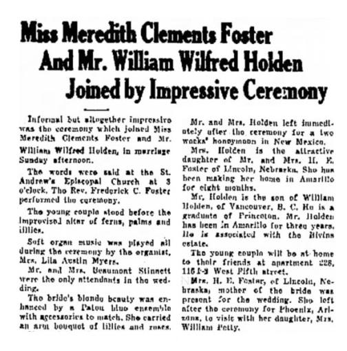 Amarillo Globe-Times (Amarillo, Texas), April 1, 1929, page 7, columns 5-6.