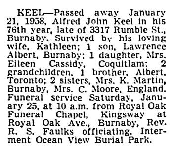 `Vancouver Sun, January 23, 1958, page 32, column 4.