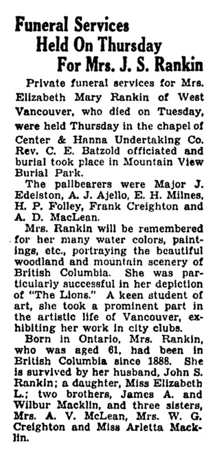 Vancouver Province, January 25, 1936, page 27, column 5.