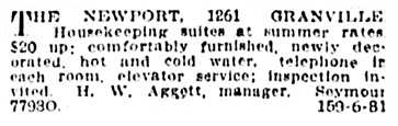 H W Aggett - manager of The Newport - Vancouver Province - June 24 1914 - page 16 - column 7
