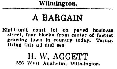 H W Aggett - realtor - Long Beach Press - Long Beach - California - October 19 1923 - page 33 - column 4