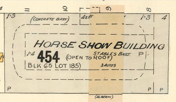 Horse Show Building - detail from Vancouver fire insurance map - about 1913 - Chas E Goad Company - Plate 48