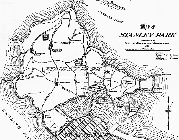 Map of Stanley Park - Vancouver - BC - 1916 - cropped - Vancouver City Archives - Part - MAP 368a-r