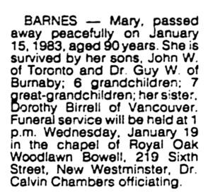 Vancouver Sun, January 18, 1983, page C7, column 7.