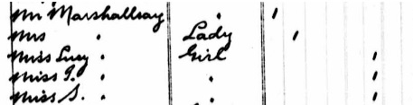 Mr Marshallsay - arrival date - August 19 1882 - arrival port - Quebec