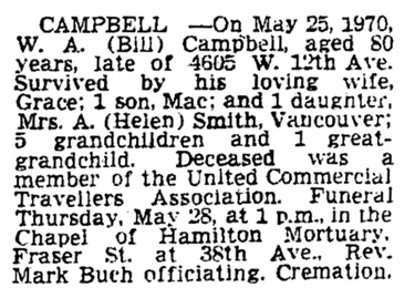 Campbell, William Alexander (1889-1970)