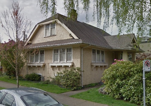 1706 West 15th Avenue - Vancouver - British Columbia - Google Streets - searched June 1 2020 - image dated April 2012