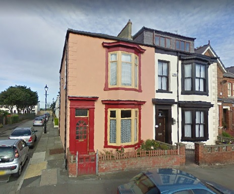 2 Marine Crescent - at northwest corner of Marine Crescent and Olive Street - Hartlepool - Google Streets - searched June 16 2020 - image dated July 2009