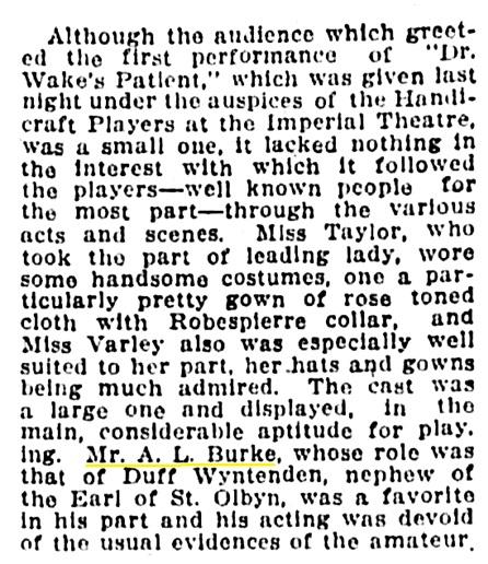 A L Burke - actor - Vancouver Province - April 16 1913 - page 8 - column 2
