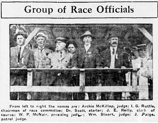 Archie McKillop - race officials - Calgary Herald - July 3 1913 - page 8 - columns 4-5