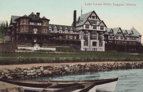 Lake Louise Hotel - Laggan - Alberta - postcard - Calgary Public Library