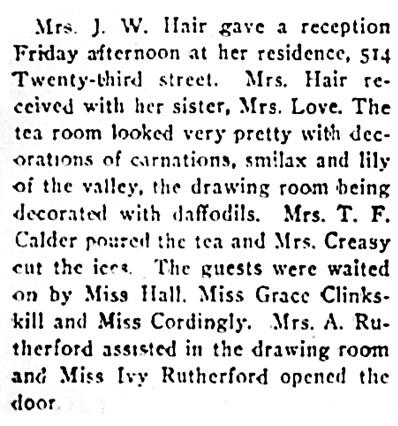 `Saskatoon Star-Phoenix, February 14, 1910, page 8, column 1.