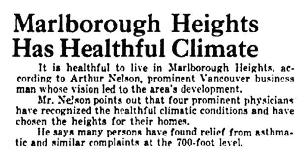 Arthur Nelson - Marlborough Heights - Vancouver Province - August 6 1949 - page 11 - columns 3-4