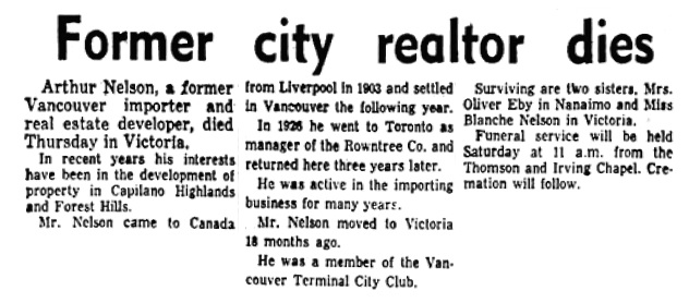 Vancouver Province, January 10, 1958, page 11, columns 1-3.
