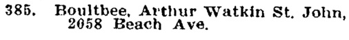 Arthur Watkin St John Boultbee - provincial voters list - absent from the district - The Western Call - October 6 1911 - page 9 - column 1