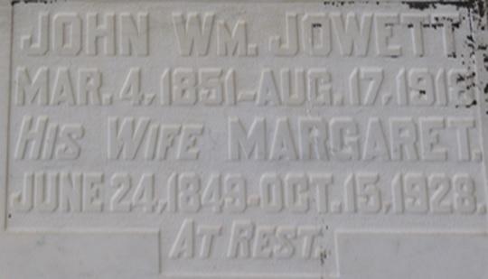 John Wm Jowett - death - August 17 1918 - Gleichen Cemetery