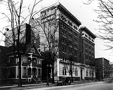Saint Julien Apartments - January 18 1929 - Vancouver Public Library - VPL Accession Number 4759