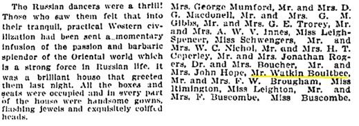 Watkin Boultbee - Russian dancers - Vancouver Province - November 18 1910 - page 5 - columns 2-3