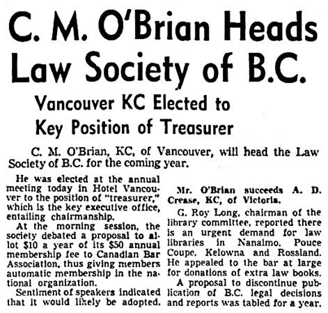 Vancouver Sun, July 4, 1947, page 2, columns 3-4.
